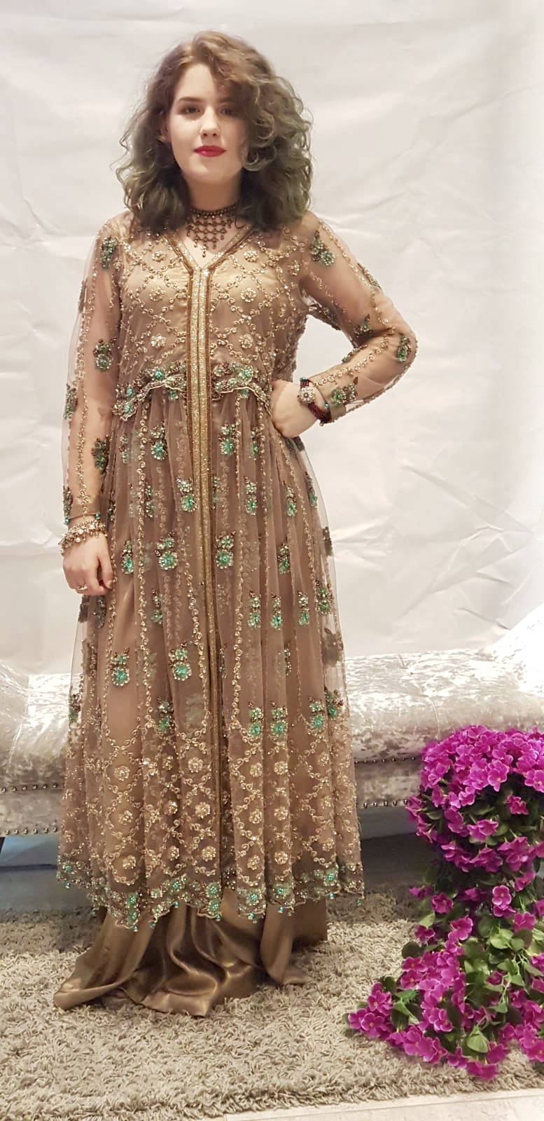 Desert Tan Long Dress Sarah Zaaraz London Fashion Designer Pakistani Dress Designer Bridal Dresses