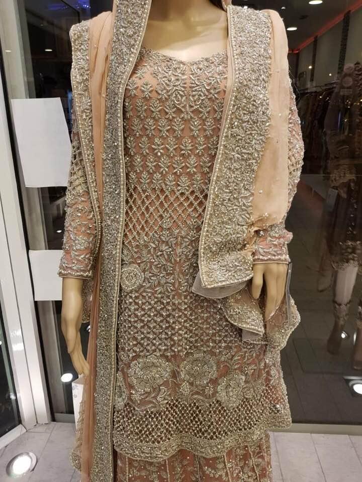 98680ae2e7 Tea Pink Bridal Dress - Sarah Zaaraz London Fashion Designer   Pakistani Dress  Designer   Bridal Dresses