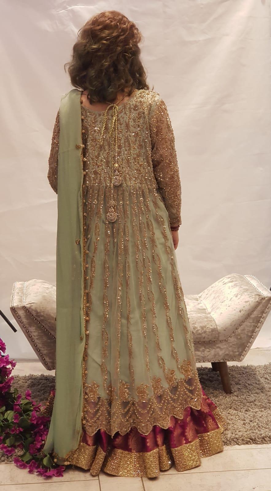 d1e84e6bcd Ice Blue Lehnga Dress - Sarah Zaaraz London Fashion Designer   Pakistani Dress  Designer   Bridal Dresses
