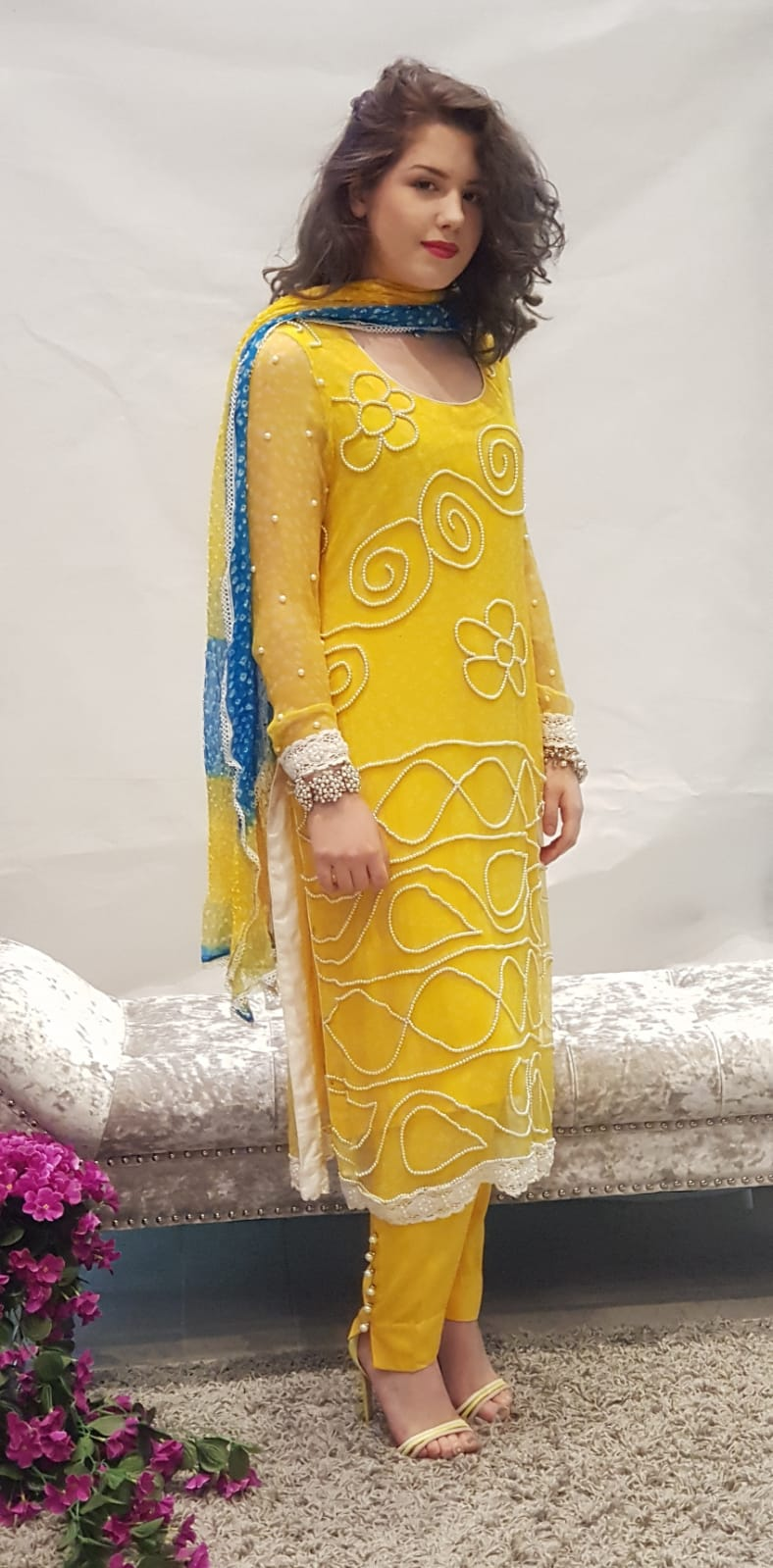 Yellow Dress Sarah Zaaraz London Fashion Designer Pakistani Dress Designer Bridal Dresses