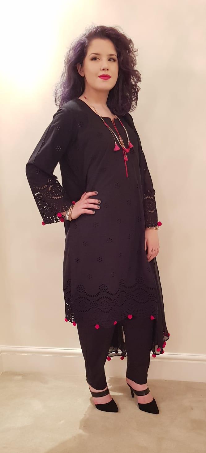 aa66b8ddd2 Black Dress - Sarah Zaaraz London Fashion Designer   Pakistani Dress  Designer   Bridal Dresses