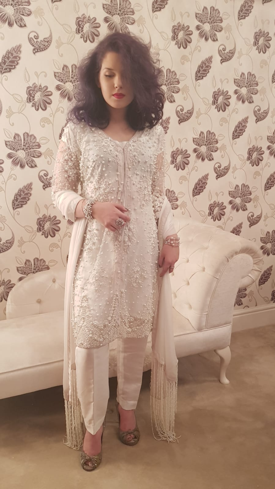 White Dress Sarah Zaaraz London Fashion Designer Pakistani Dress Designer Bridal Dresses
