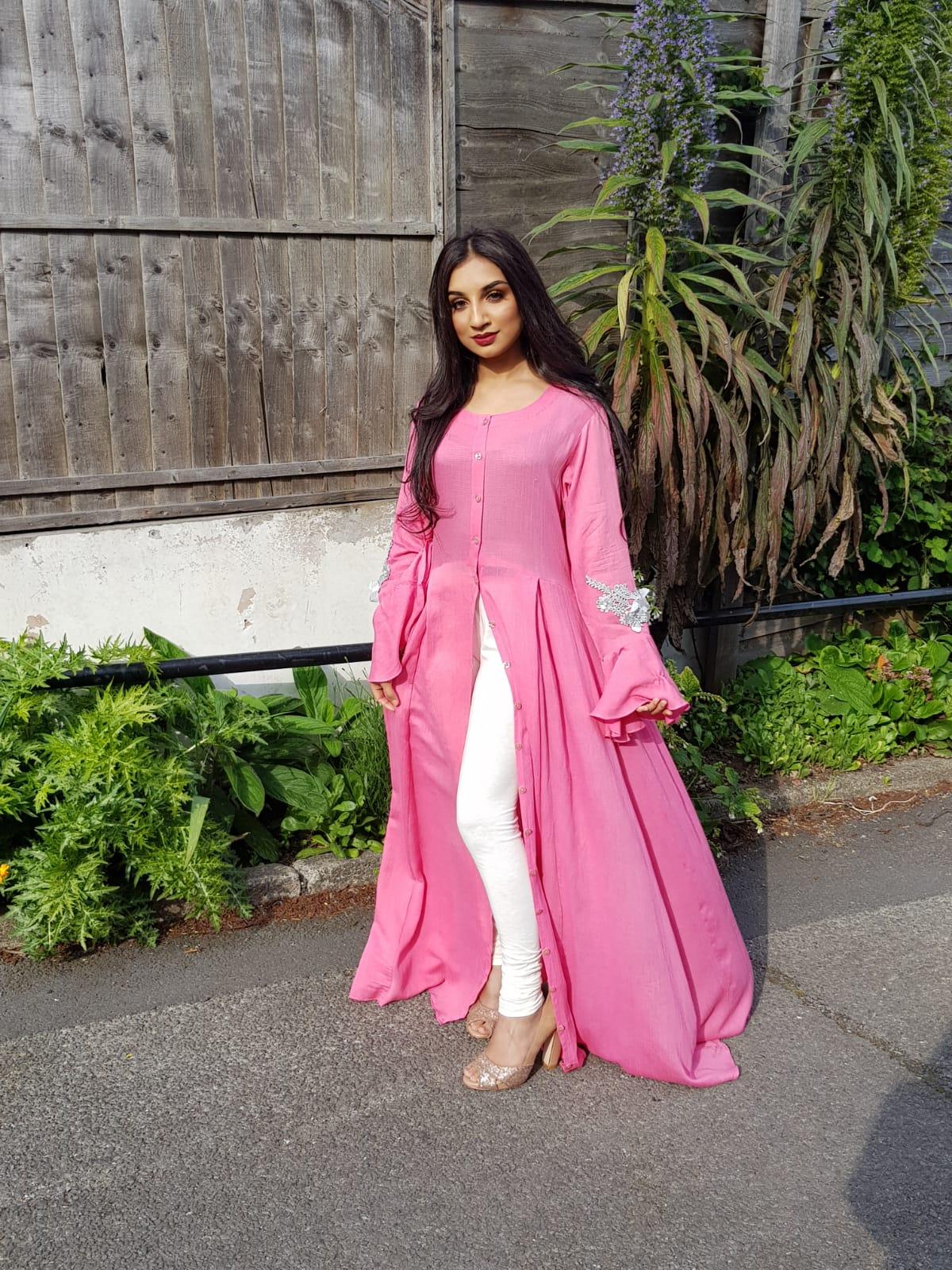 Pink Long Maxi Dress